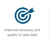Improved accuracy and quality of case data