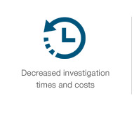 Decreased investigation times and cost